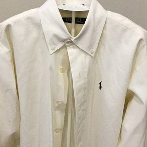 Polo by Ralph Lauren XL Cream Button Down LS